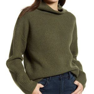 NWT Chelsea28 Ribbed Funnel Neck Sweater Sz M